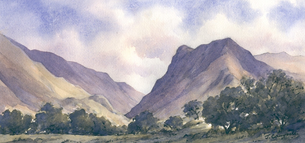 Watercolour Painting of Fleetwith Pike from Buttermere